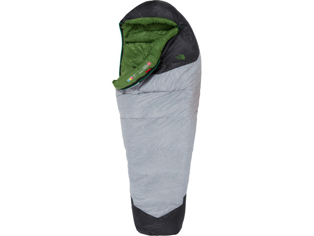 The North Face Green Kazoo Sac de couchage Long, high rise grey/adder green